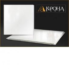 Панель ПВХ Кронапласт 2700х250х5 мм Белый глянцевый