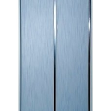 Панель ПВХ Мастер Декор Софитто 2 3000х200х8 мм Хром штрих голубой