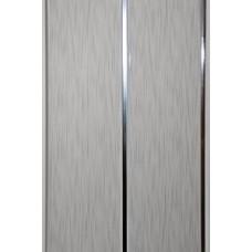 Панель ПВХ Мастер Декор Софитто 2 3000х200х8 мм Хром штрих серый