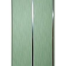 Панель ПВХ Мастер Декор Софитто 2 3000х200х8 мм Хром штрих зеленый