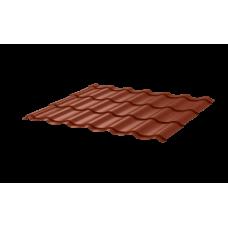 Металлочерепица Монтеррей СПК 0,45 Sunmatt RAL 8004 Коричневая медь
