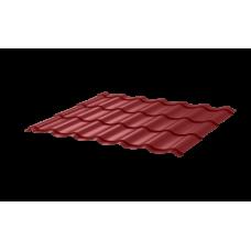 Металлочерепица Монтеррей СПК 0,4 RAL 3003 Рубин