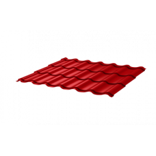 Металлочерепица Монтеррей СПК 0,4 RAL 3020 Красный насыщенный