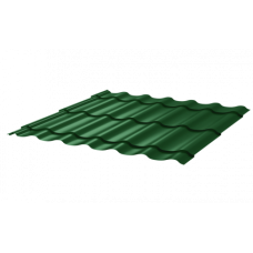 Металлочерепица Монтеррей Макси СПК 0,4 RAL 6005 Зеленый мох