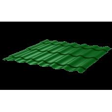 Металлочерепица Монтеррей Макси СПК 0,4 RAL 6002 Зеленый лист