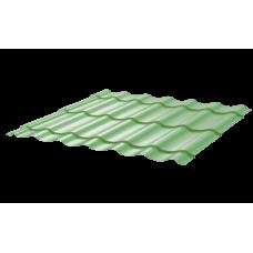 Металлочерепица Монтеррей Макси СПК 0,4 RAL 6021 Бледно-зеленый