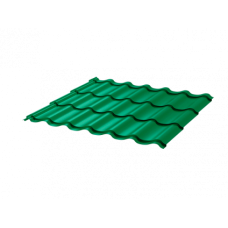 Металлочерепица Монтеррей Макси СПК 0,4 RAL 6029 Зеленая мята