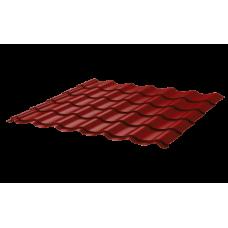 Металлочерепица Монтеррей Ретро СПК 0,45 RAL 3011 Коричнево-красный