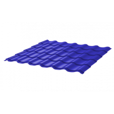 Металлочерепица Монтеррей Ретро СПК 0,45 RAL 5002 Ультрамарин