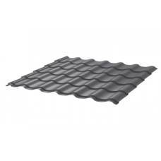 Металлочерепица Монтеррей Ретро СПК 0,45 RAL 7024 Серый графит