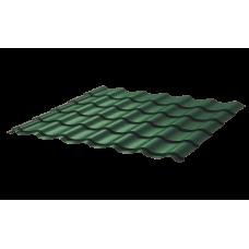 Металлочерепица Монтеррей Ретро СПК 0,45 Sunmatt RAL 6005 Зеленый мох