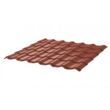 Металлочерепица Монтеррей Ретро СПК 0,45 Sunmatt RAL 8004 Коричневая медь