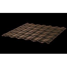 Металлочерепица Монтеррей Ретро СПК 0,45 Sunmatt RAL 8017 Шоколад