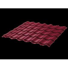 Металлочерепица Монтеррей Ретро СПК 0,4 RAL 3005 Красное вино