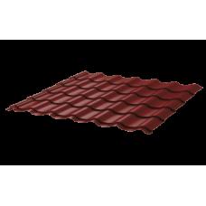 Металлочерепица Монтеррей Ретро СПК 0,4 RAL 3009 Красный оксид