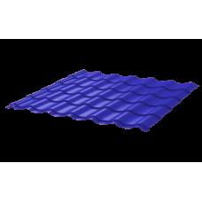 Металлочерепица Монтеррей Ретро СПК 0,4 RAL 5002 Ультрамарин