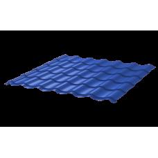Металлочерепица Монтеррей Ретро СПК 0,4 RAL 5005 Сигнально-синий