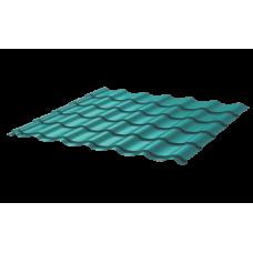 Металлочерепица Монтеррей Ретро СПК 0,4 RAL 5021 Морская волна