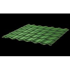 Металлочерепица Монтеррей Ретро СПК 0,4 RAL 6002 Зеленый лист