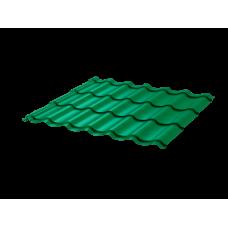 Металлочерепица Монтеррей Ретро СПК 0,4 RAL 6029 Зеленая мята