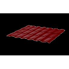 Металлочерепица СуперМонтеррей СПК 0,45 Sunmatt RAL 3005 красное вино
