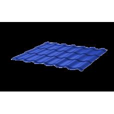 Металлочерепица СуперМонтеррей СПК 0,4 RAL 5005 Сигнально-синий