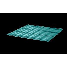 Металлочерепица СуперМонтеррей СПК 0,4 RAL 5021 Морская волна