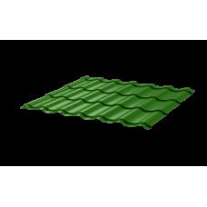 Металлочерепица СуперМонтеррей СПК 0,4 RAL 6002 Зеленый лист