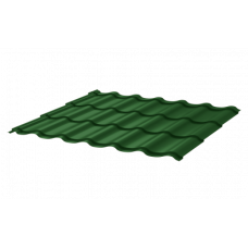Металлочерепица СуперМонтеррей СПК 0,4 RAL 6005 Зеленый мох