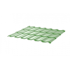 Металлочерепица СуперМонтеррей СПК 0,4 RAL 6021 Бледно-зеленый