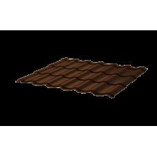 Металлочерепица СуперМонтеррей СПК 0,4 RAL 8017 Шоколад