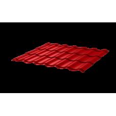 Металлочерепица СуперМонтеррей СПК 0,4 RAL 3020 Красный насыщенный