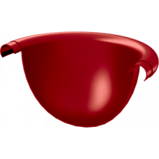 Заглушка желоба AquaSystem 125 RR29 Красный