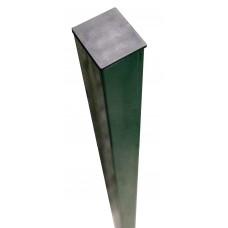 Столб GL RAL 6005 с отверстиями