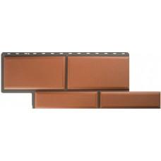 Фасадный сайдинг Альта-Профиль Камень Флорентийский Терракотовый