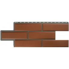 Фасадный сайдинг Альта-Профиль Камень Венецианский Терракотовый