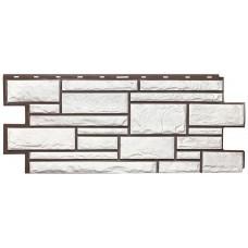 Фасадная панель Т-Сайдинг Дикий камень Белый