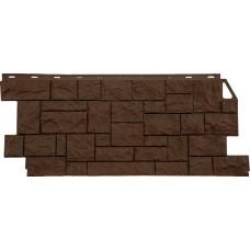 Фасадная панель FineBer Камень дикий Коричневый