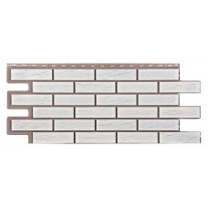 Фасадная панель Т-Сайдинг Керамит Белый