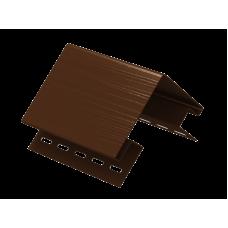 Наружный угол Ю-пласт 3,0м Коричневый